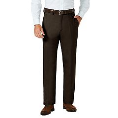 Men's J.M. Haggar Premium Classic-Fit Stretch Sharkskin Flat-Front Hidden Expandable Waist Dress Pants