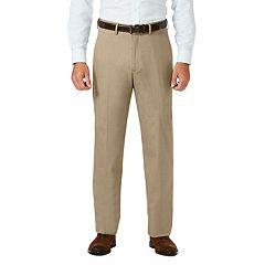 Men's J.M. Haggar Premium Classic-Fit Stretch Sharkskin Flat-Front Hidden Expandable Waist Dress Pants
