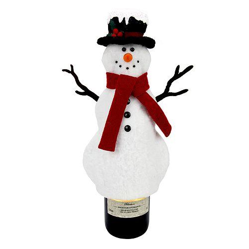 St. Nicholas Square® Top Hat Snowman Wine Bottle Cover