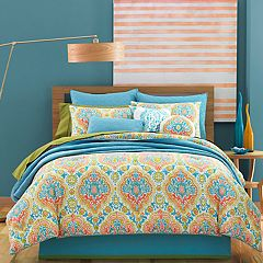 37 West Juniper Ikat Damask Comforter Set