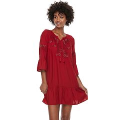 Women's SONOMA Goods for Life™ Embroidered Drop-Waist Dress