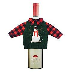 St. Nicholas Square® Snowman Sweater Wine Bottle Cover