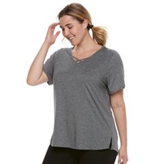 Plus Size Tek Gear® Criss-Cross Performance Tee