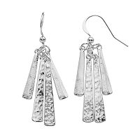 Apt. 9® Silver Tone Textured Stick Drop Earrings