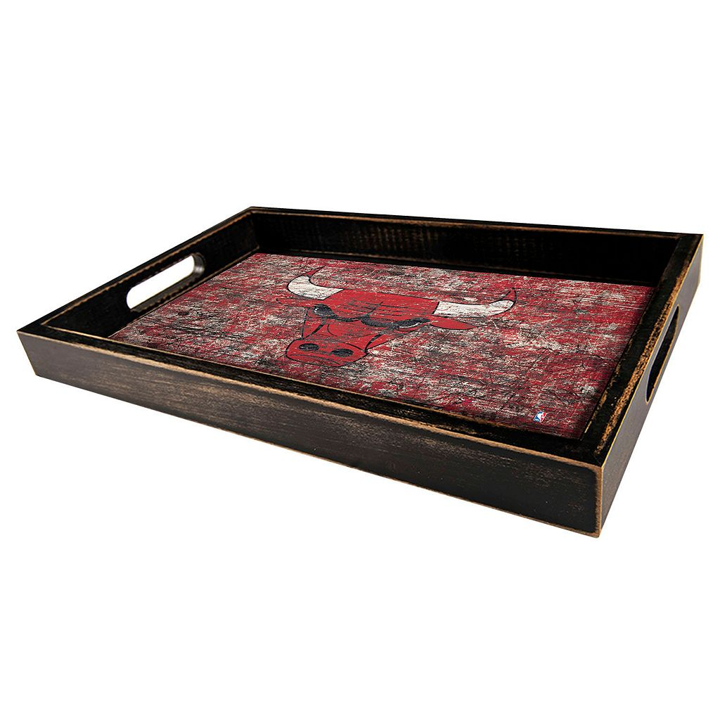 Chicago Bulls Distressed Serving Tray