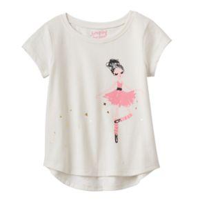 Toddler Girl Jumping Beans® Foil Ballerina Graphic Tee