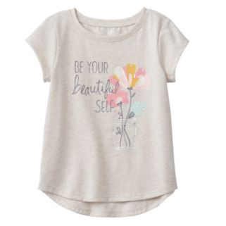 "Toddler Girl Jumping Beans® ""Be Your Beautiful Self"" Graphic Tee"