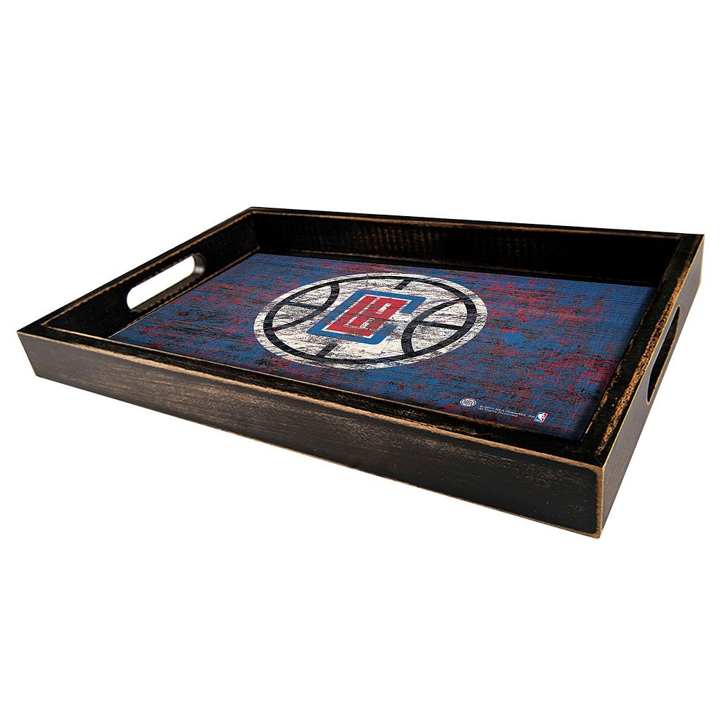 Los Angeles Clippers Distressed Serving Tray