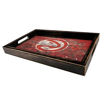 Atlanta Hawks Distressed Serving Tray