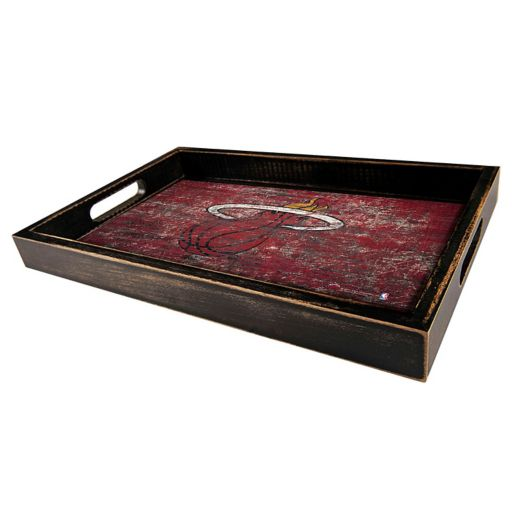 Miami Heat Distressed Serving Tray