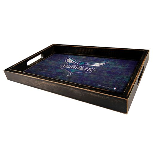 Charlotte Hornets Distressed Serving Tray