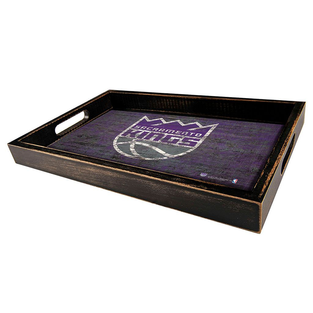 Sacramento Kings Distressed Serving Tray