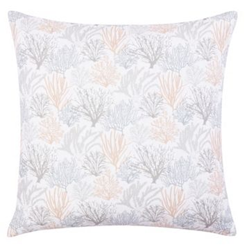 Laura Ashley Lifestyles Coral Sea Quilted Euro Sham