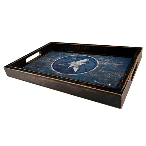 Minnesota Timberwolves Distressed Serving Tray