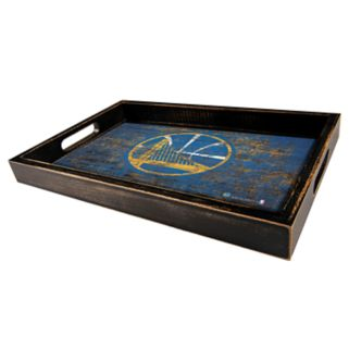 Golden State Warriors Distressed Serving Tray