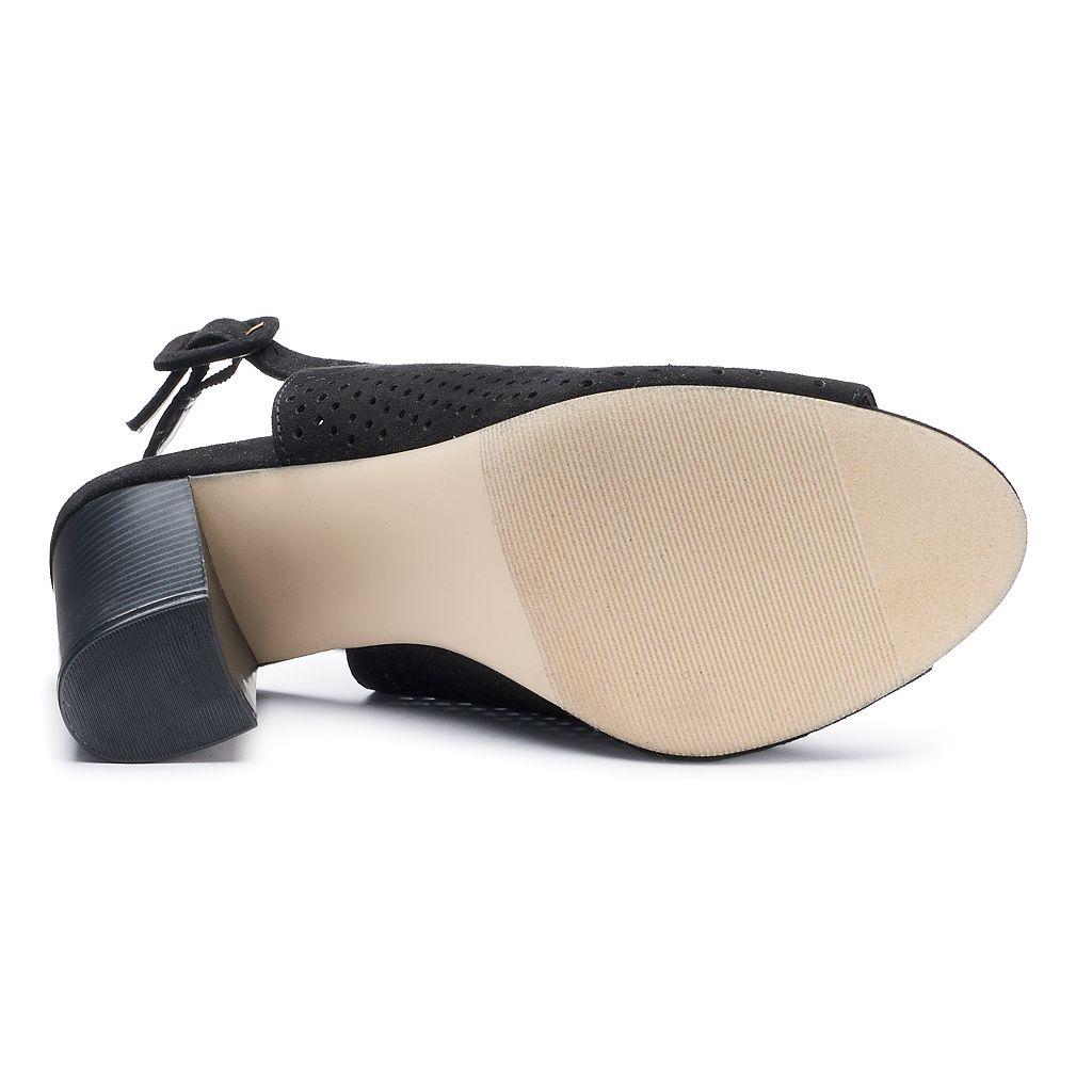 madden NYC Brogann Women's Peep Toe Booties