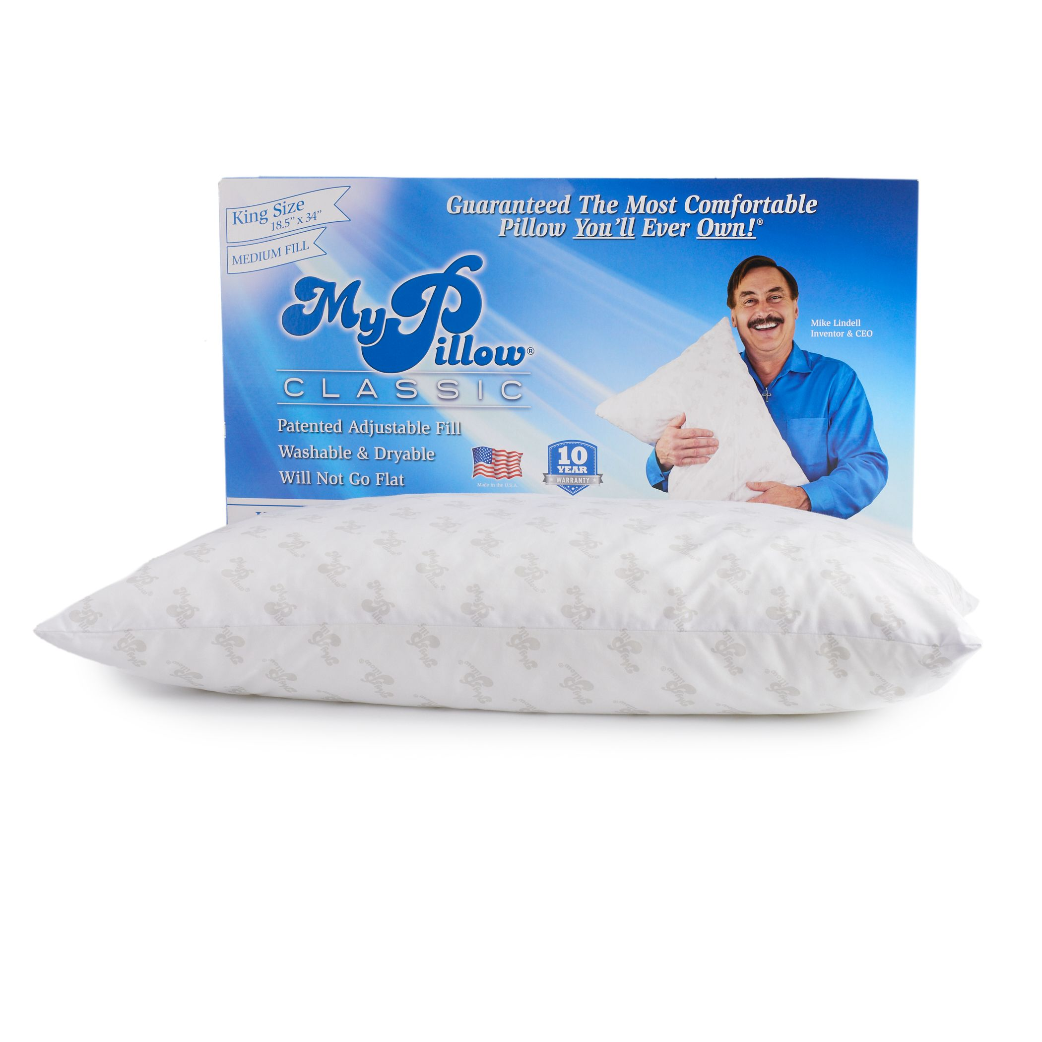 my pillow queen medium fill pillow