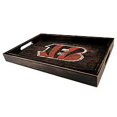 Cincinnati Bengals Distressed Serving Tray