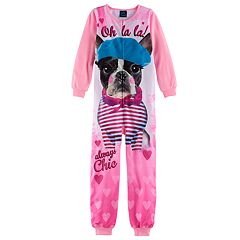 Girls 4-16 Jellifish Sublimated Animal Graphic One-Piece Pajamas