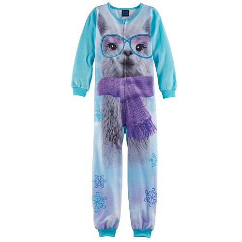 Girls 4-16 Jellifish Sublimated Animal Graphic One-Piece Pajamas