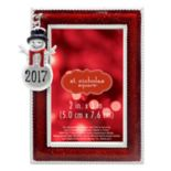 "St. Nicholas Square® 2"" x 3"" ""2017"" Snowman Charm Photo Holder Christmas Ornament"