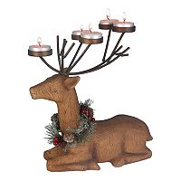 St. Nicholas Square® 5-Light Sitting Deer Tealight Candle Holder