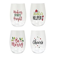 St. Nicholas Square® 4 pc Christmas Wine Glass Set