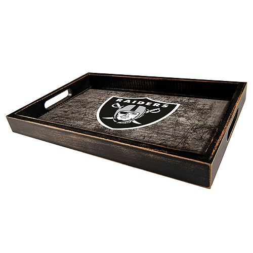 Oakland Raiders Distressed Serving Tray