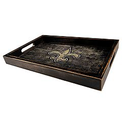 New Orleans Saints Distressed Serving Tray
