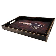New England Patriots Distressed Serving Tray