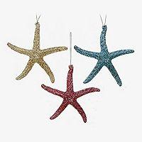 St. Nicholas Square® Artificial Starfish Christmas Ornaments 3-piece Set
