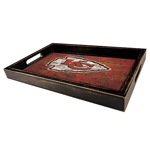 Kansas City Chiefs Distressed Serving Tray