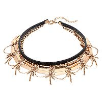 Mudd® Bar & Chain Layered Choker Necklace