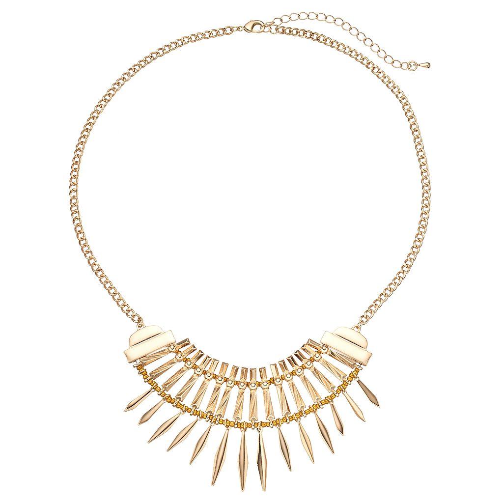 Cleopatra Fringe Statement Necklace