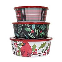 St. Nicholas Square® Traditional 3-pc. Melamine Stacking Container Set