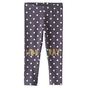 Toddler Girl Jumping Beans® Polka-Dot Glittery Hoo-Ray Leggings