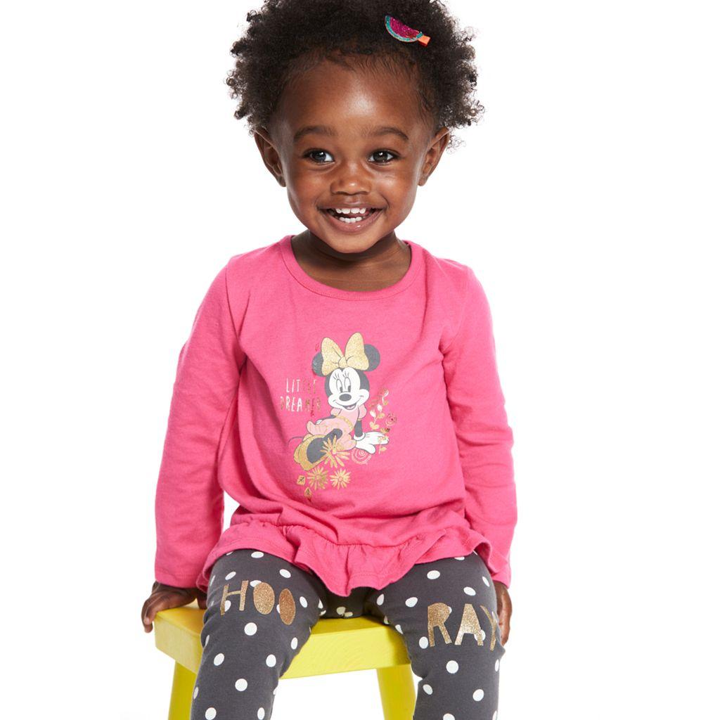 Toddler Girl Jumping Beans® Polka-Dot Glittery Hoo-Ray Leggings