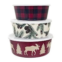 St. Nicholas Square® Lodge 3-pc. Melamine Stacking Container Set