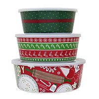 St. Nicholas Square® Baking 3 pc Melamine Stacking Container Set