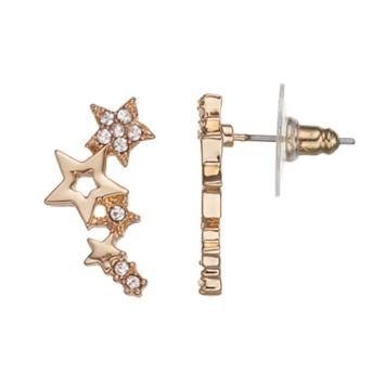 LC Lauren Conrad Star Cluster Climber Earrings
