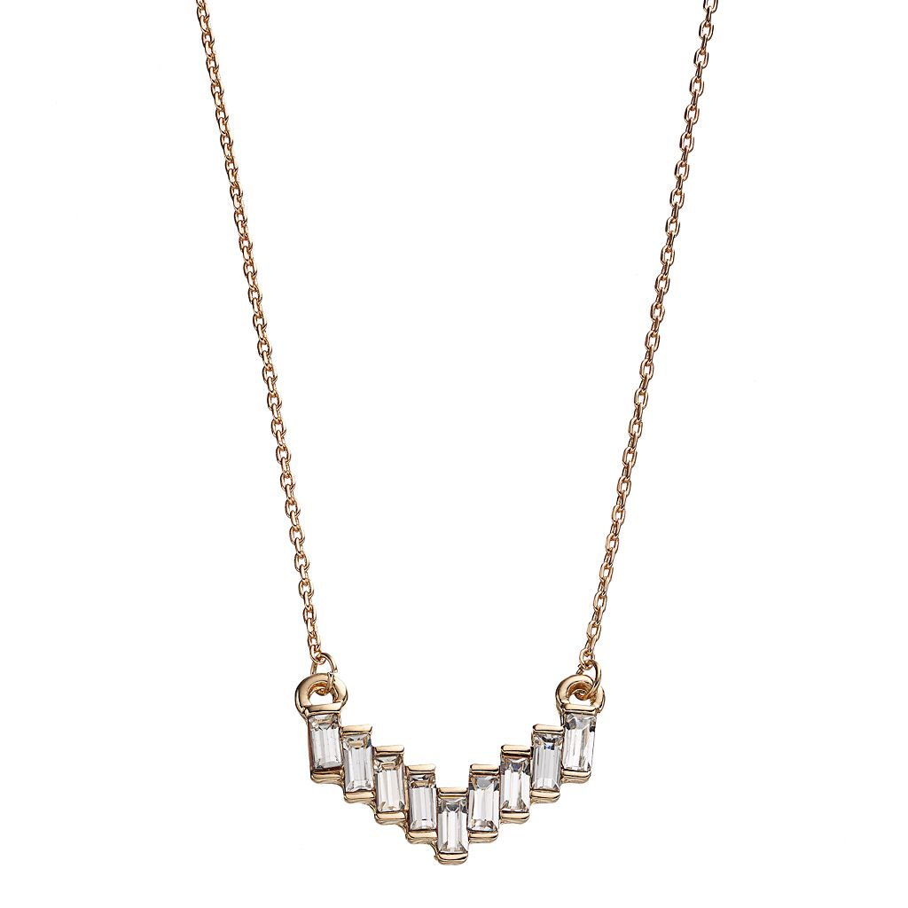 LC Lauren Conrad Baguette Chevron Necklace
