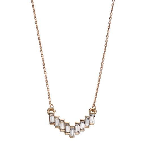 LC Lauren Conrad Baguette Chevron Necklace