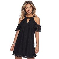 Juniors' Candie's® Cold-Shoulder Swing Dress