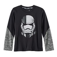Boys 4-7x Star Wars a Collection for Kohl's Star Wars: Episode VIII The Last Jedi Foiled Stormtrooper Space-Dyed Tee