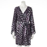 Women's Jennifer Lopez Watercolor Animal Print Crossover Dress