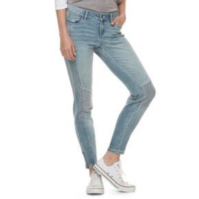 Juniors' Candie's® Zipper Ankle Moto Skinny Jeans
