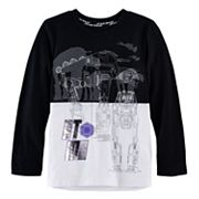 Boys 4-7x Star Wars a Collection for Kohl's Star Wars: Episode VIII The Last Jedi Foiled AT-M6 Colorblock Tee