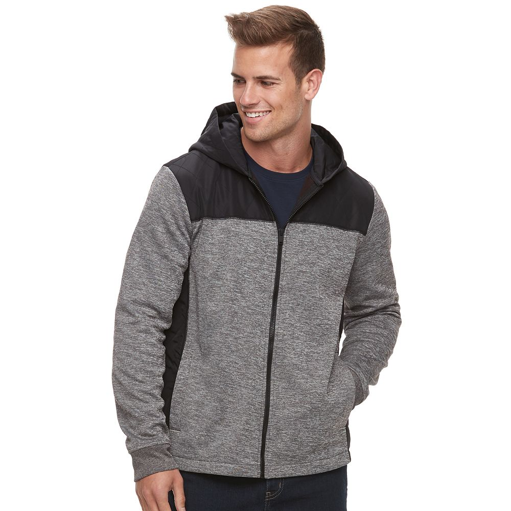 Apt. 9® Mixed Media Quilted Hooded Jacket : quilted hooded jacket - Adamdwight.com