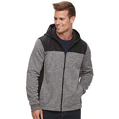 Men's Apt. 9® Mixed Media Quilted Hooded Jacket