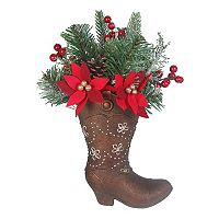 St. Nicholas Square® Light-Up Decorative Cowboy Boot Floor Decor